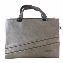 Karen szürke rostbőr táska D428