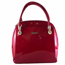 Prestige női piros lakk hatású táska