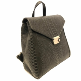 Diana bőr hátizsák fekete színben