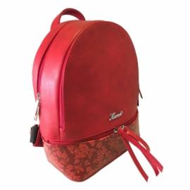 Karen rostbőr  hátizsák piros színben