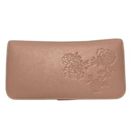 Pink virágos műbőr pénztárca