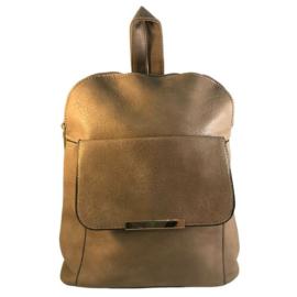 Műbőr barna hátizsák 6756