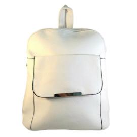 Műbőr fehér hátizsák 6756