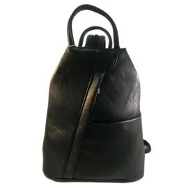 Műbőr fekete hátizsák fekete 349