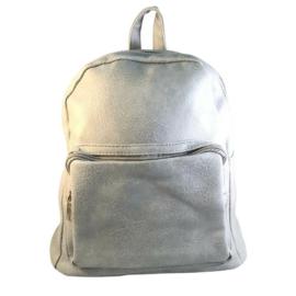 Műbőr szürke hátizsák 6758