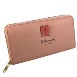 pink műbőr pénztárca