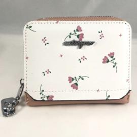 Kisméretű pénztárca fehér pink