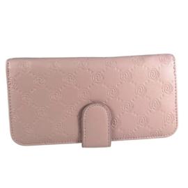 Pink virágmintás műbőr pénztárca T-035