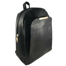 Műbőr fekete hátizsák 6761