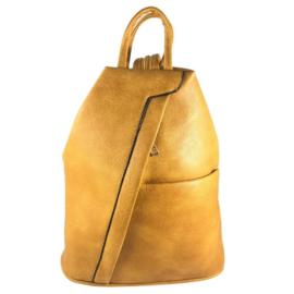 Műbőr sárga hátizsák fehér Allina