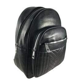 Fekete műbőr hátitáska 164