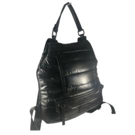 Fekete színű steppelt hátizsák