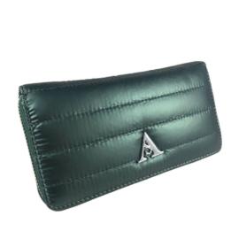 Zöld steppelt pénztárca