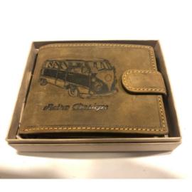 Autó mintájú férfi bőr pénztárca