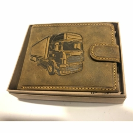 Kamionos mintájú férfi bőr pénztárca