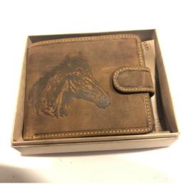 Lovas férfi marhabőr pénztárca
