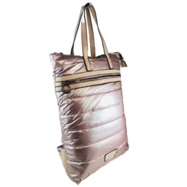 Extra nagyméretű pink steppelt hátizsák