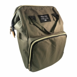 baba mama táska zöld színben