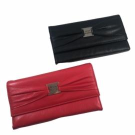 piros női nagy méretű pénztárca