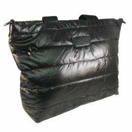 Steppelt kabát anyagú oldaltáska fekete színben