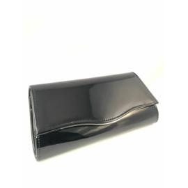 alkalmi táska lakk fekete színben