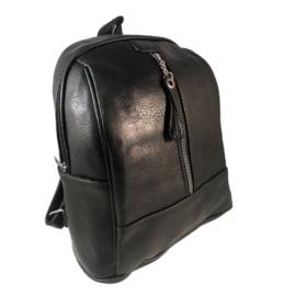 borse antonio fekete műbőr hátitáska