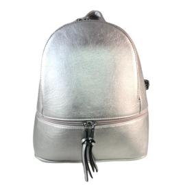 ezüst hátitáska műbőr