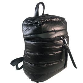 Steppelt hátizsák fekete színben