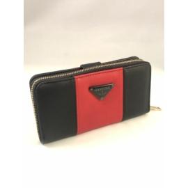 fekete piros pénztárca műbőr