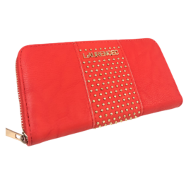 műbőr pénztárca piros