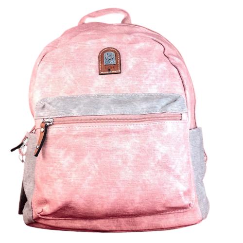 Hagyományos hátitáska pink barna Lucia