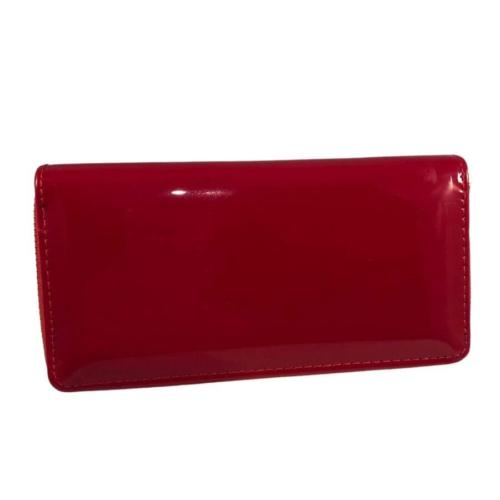 piros fényes pénztárca
