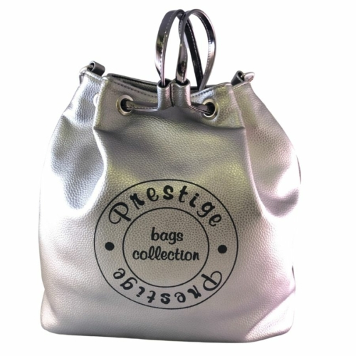 Prestige női ezüst hátizsák