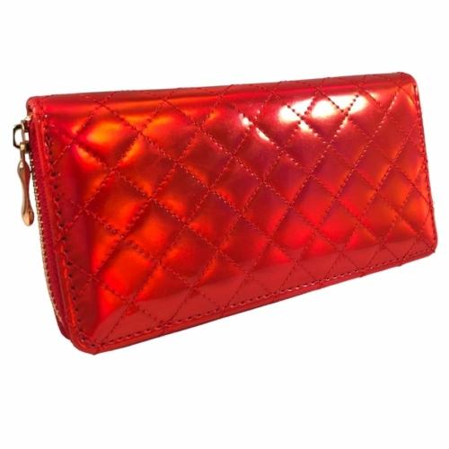 Piros csillogó pénztárca
