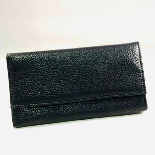 fekete műbőr brifkó pincér pénztárca