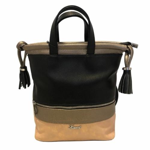 Karen rostbőr hátizsák fekete barna színben