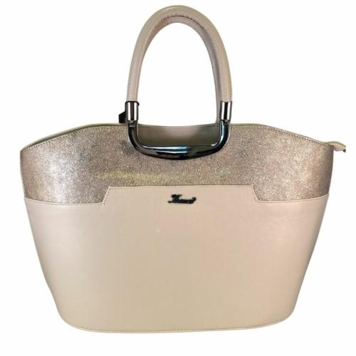 Karen nagyméretű púderszínű táska