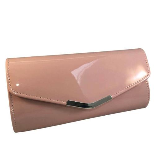 alkalmi táska lakk hatású pink