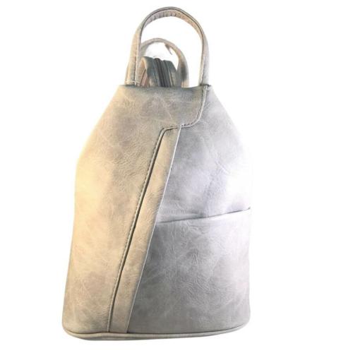 Műbőr fekete hátizsák szürke 349