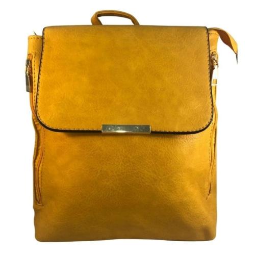 Mustár színű műbőr hátitáska 81994