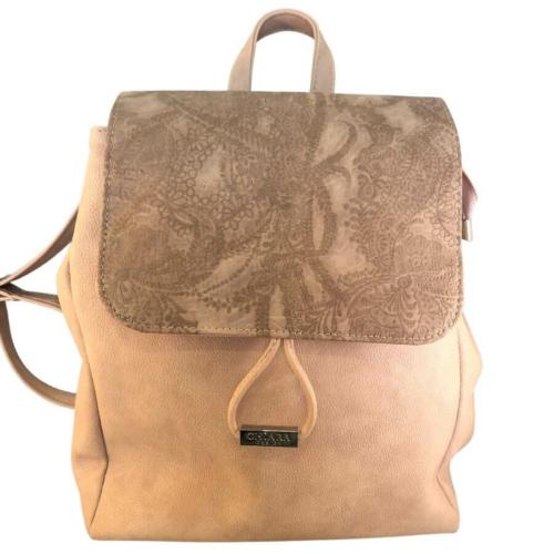 Chiara mintás barna hátizsák