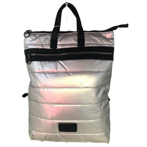 Ezüst steppelt hátizsák