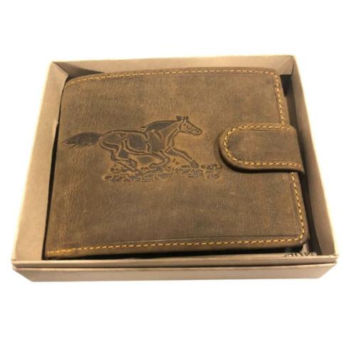 Vágtázó ló férfi marhabőr pénztárca