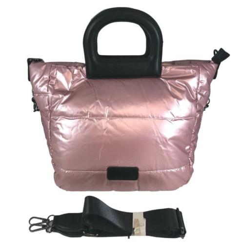 Pink közepes méretű steppelt kézitáska 815