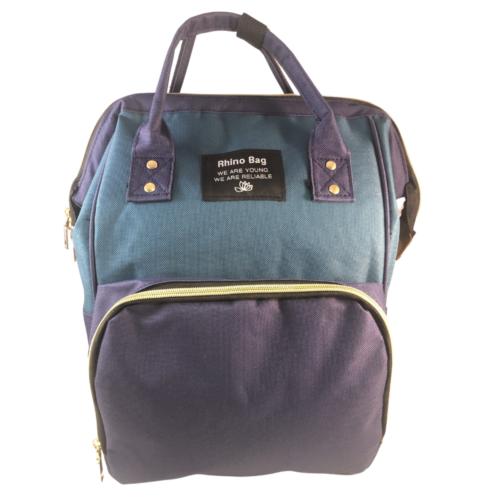 baba mama táska kék és zöld színben