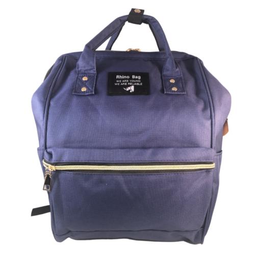 Baba - mama pamutvászon táska kék színben