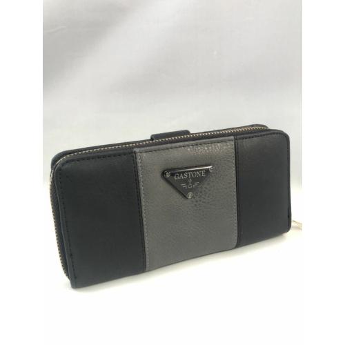 fekete szürke pénztárca műbőr