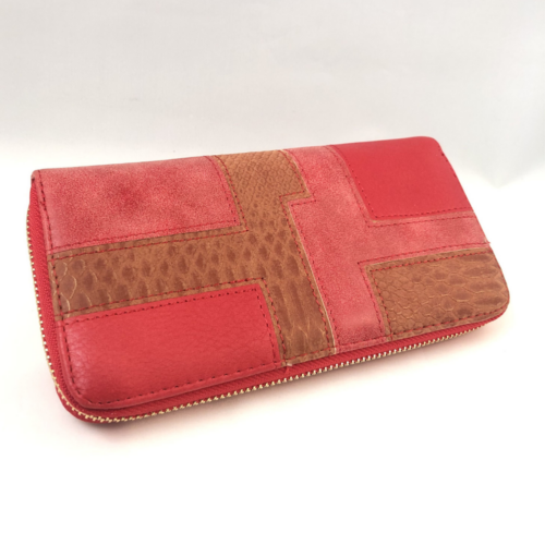 pénztárca piros színben