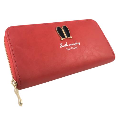 piros műbőr pénztárca