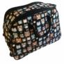 Kép 2/4 - Bagoly mintás színes gurulós bőrönd Allecra